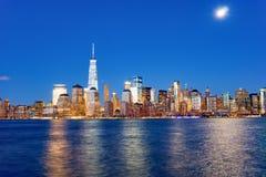 Widok Nowy Jork od Dżersejowego miasta Obrazy Royalty Free