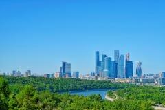 Widok Nuture i Budować Moskwa pejzaż miejskiego Obraz Royalty Free