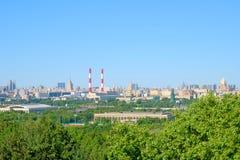 Widok Nuture i Budować Moskwa pejzaż miejskiego Fotografia Royalty Free