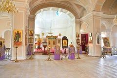 Widok ołtarz kaplica Święta trójca w Gatchina Zdjęcia Stock