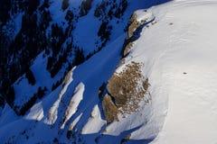 Widok ośrodek narciarski Jungfrau Wengen Obrazy Royalty Free