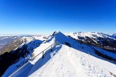 Widok ośrodek narciarski Jungfrau Wengen Fotografia Stock