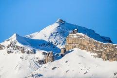 Widok ośrodek narciarski Jungfrau Wengen Obrazy Stock