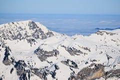 Widok ośrodek narciarski Jungfrau Wengen Obraz Royalty Free