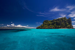 widok oceanu wyspy raju Zdjęcia Royalty Free