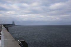Widok od Øresund mosta Fotografia Stock