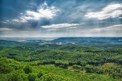 Widok od ÄŒierna skala - Mali Carpathians Obraz Stock