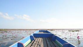 Widok od łodzi giganta kwadrata dipnets zdjęcie wideo