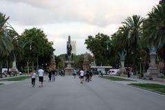 Widok od Łuku De Triomf w Barcelona Hiszpania zdjęcie royalty free