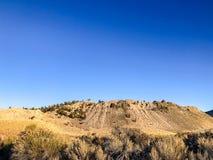 Widok Od śladu przy Panum kraterem zdjęcie stock