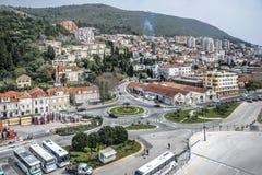 Widok od above Śródziemnomorski miasto Dubrovnik obrazy stock