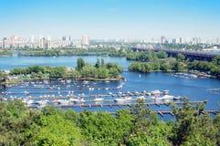 Widok od above lewy bank Dniper rzeka, Obraz Royalty Free