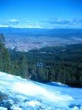 Widok od above miasto Bansko Obrazy Royalty Free