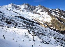 Widok od above na Felskinn śniegu sportach wysyła blisko opłaty Obraz Royalty Free