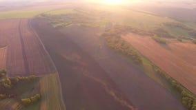 Widok od above na polu Zmierzch zbiory