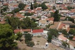 Widok od akropolu Obrazy Royalty Free