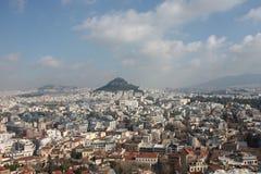 Widok od akropolu Ateny Grecja zdjęcie stock