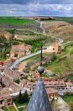 Widok od kasztelu Segovia; zdjęcie stock
