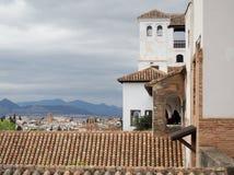 Widok od Alhambra fortu w Granada Hiszpania Zdjęcia Royalty Free