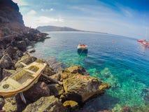 Widok od Amoudi zatoki Zdjęcia Royalty Free