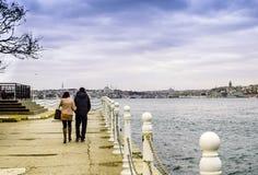 Widok od Anatolian strony Istanbuł widoki Fotografia Stock