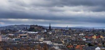 Widok od Arthur siedzenia - Edinburgh Zdjęcia Stock