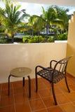 Widok od balkonowego hotelu w republice dominikańskiej Obrazy Stock