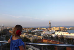 Widok od balkonu, Barcelona Zdjęcia Stock