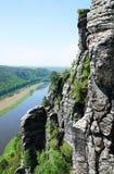 Widok od bastionu Elbe Zdjęcia Stock