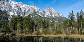 Widok od Bawarskiego halnego lasu Alps Zdjęcie Royalty Free
