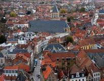 Widok od Belfort środkowy Bruges Obraz Royalty Free