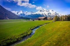 Widok od Bernina Ekspresowego Obrazy Stock