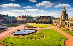 Widok od bierd& x27; s oko sławny Zwinger pałac & x28; Dera Dresdner Zwi Obraz Royalty Free