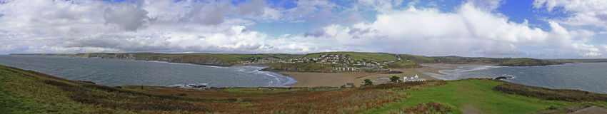 Widok od Burgh wyspy, Devon Zdjęcie Stock