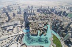 Widok od burj khalifa Zdjęcia Royalty Free