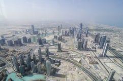 Widok od burj khalifa zdjęcia stock