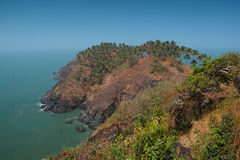 Widok od Cabo De Rama Fort. Goa, India Obrazy Royalty Free