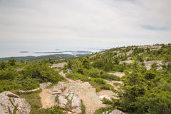 Widok od Cadillac góry w Acadia parku narodowym Obraz Stock