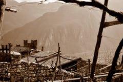 Widok od Castello Di Avio obraz stock