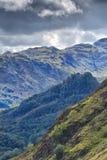 Widok od Catbells w kierunku Grodowego Crag, Jeziorny okręg, Cumbria fotografia royalty free