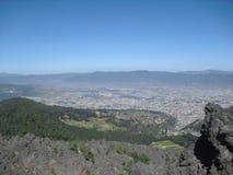 Widok od Cerro losu angeles Muela w Quetzaltenango, Gwatemala zdjęcia royalty free