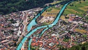 Widok od Ciężkiego Kulm, Interlaken, Szwajcaria - obraz royalty free