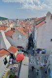 Widok od ścian dubrovnik Chorwacja Obraz Stock