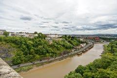 Widok od clifton zawieszenia mosta w kierunku brystolu centre Zdjęcia Royalty Free