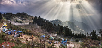 Widok od Conjugal miłości willi, Tajwańska Lali góra Fotografia Stock