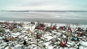Widok od copter wioska zdjęcie wideo