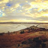 Widok od cramond wyspy Obrazy Stock
