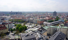 Widok od crurch wierza miasto Munich fotografia royalty free