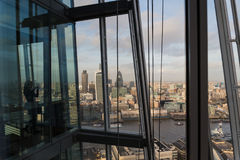 Widok od czerepu Londyńska linia horyzontu zdjęcie stock