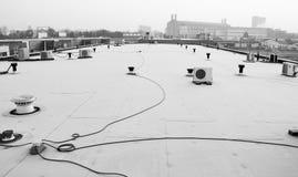 Widok od dachu budynek w Nijmegen holandie zdjęcie royalty free